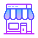 Online Store Icon in Gradient Style
