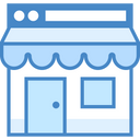 Online Store Icon in Blue UI Style