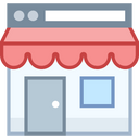 Online Store Icon in Office Style