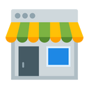 Online Store Icon in Color Style