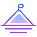 Mission Icon in Gradient Style
